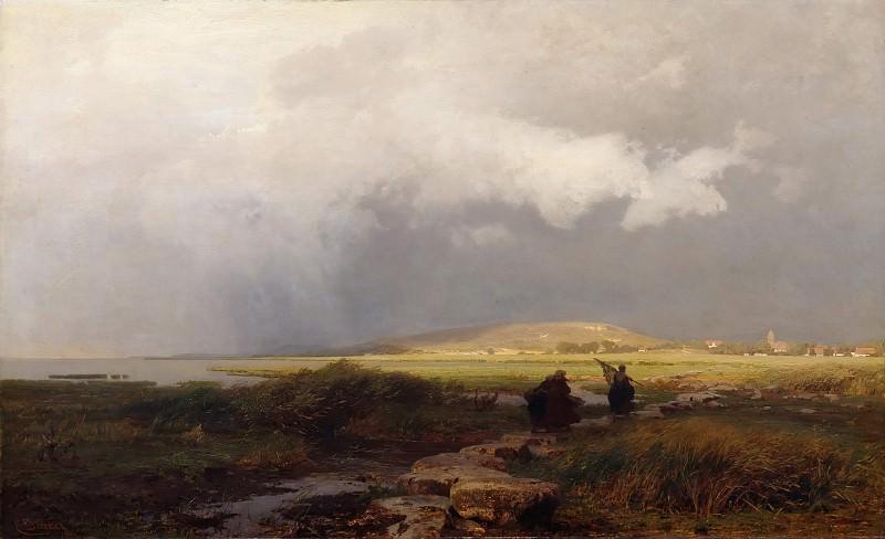 Thunderstorm countryside. Eugen Gustav Ducker