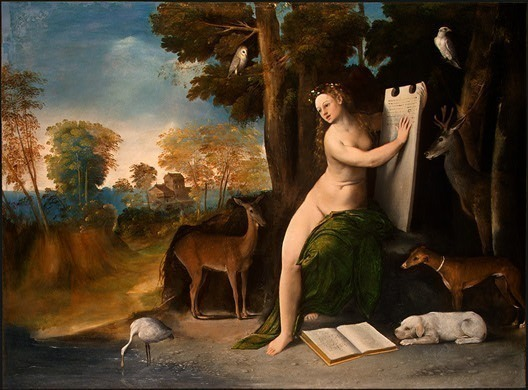 Circe and Her Lovers in a Landscape, c. 1525, 100.8(12. Dosso Dossi