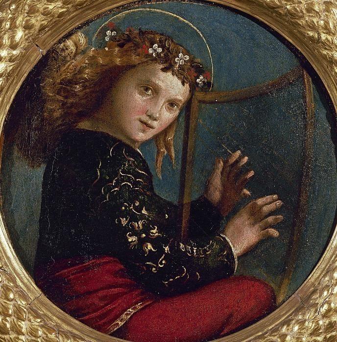 Ангел-музыкант с арфой. Доссо Досси