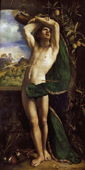 Saint Sebastian. Dosso Dossi