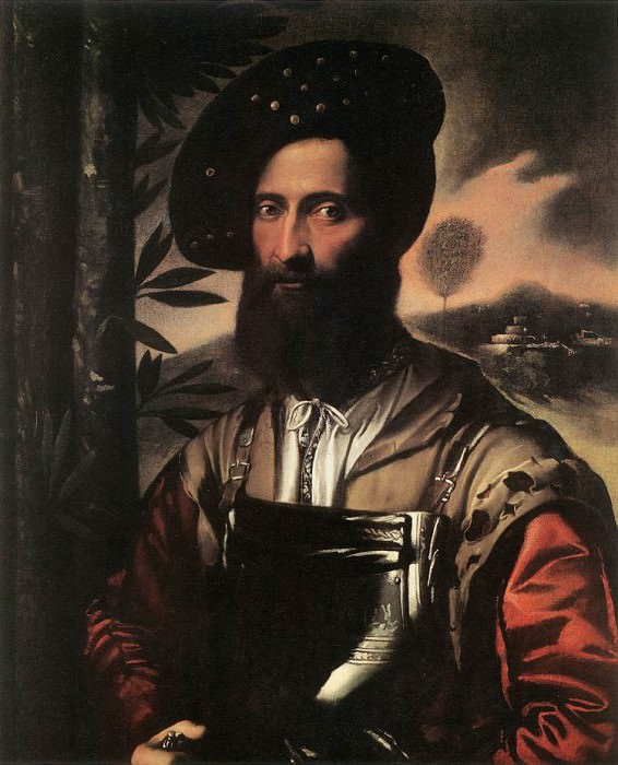 Portrait of a Warrior. Dosso Dossi