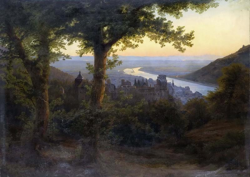 The Castle of Heidelberg. Carl Dahl