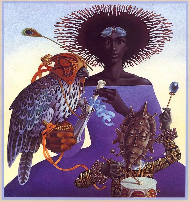 lrs Dillon L& D Illustrators40 Poster. Лео и Диана Диллон