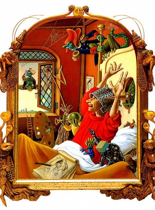 Иеронимус вылетел из ужасной ночи. Лео и Диана Диллон