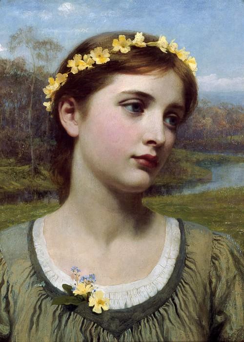 Spring Maiden. Sir Frank Bernard Dicksee
