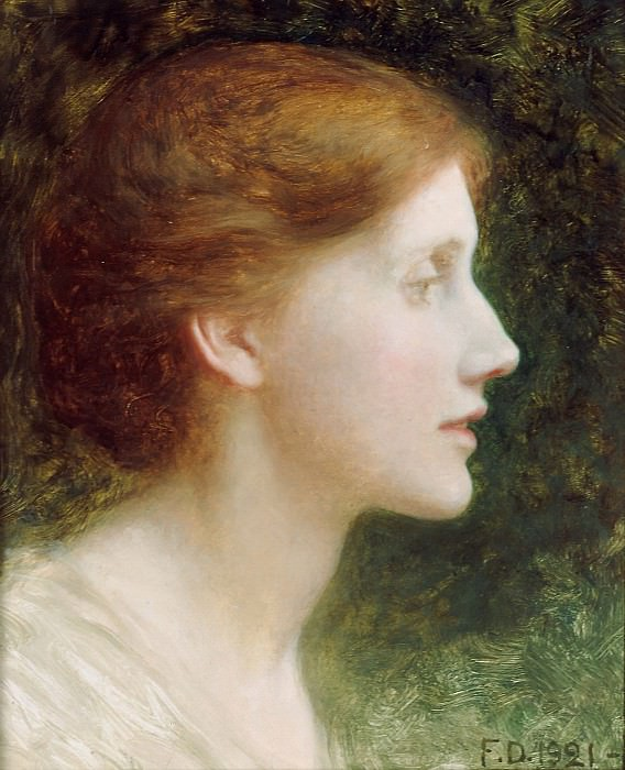 Portrait of Agnes Mallam (Mrs Edward Foster). Sir Frank Bernard Dicksee
