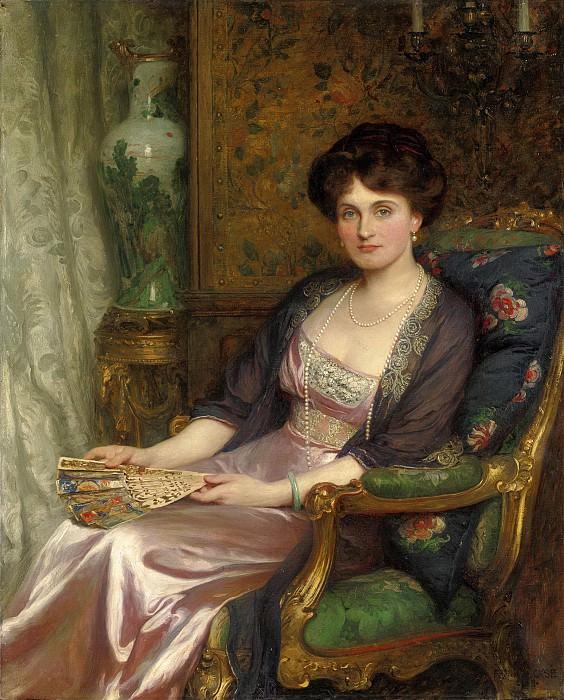Portrait of Mrs George Pinckard. Sir Frank Bernard Dicksee