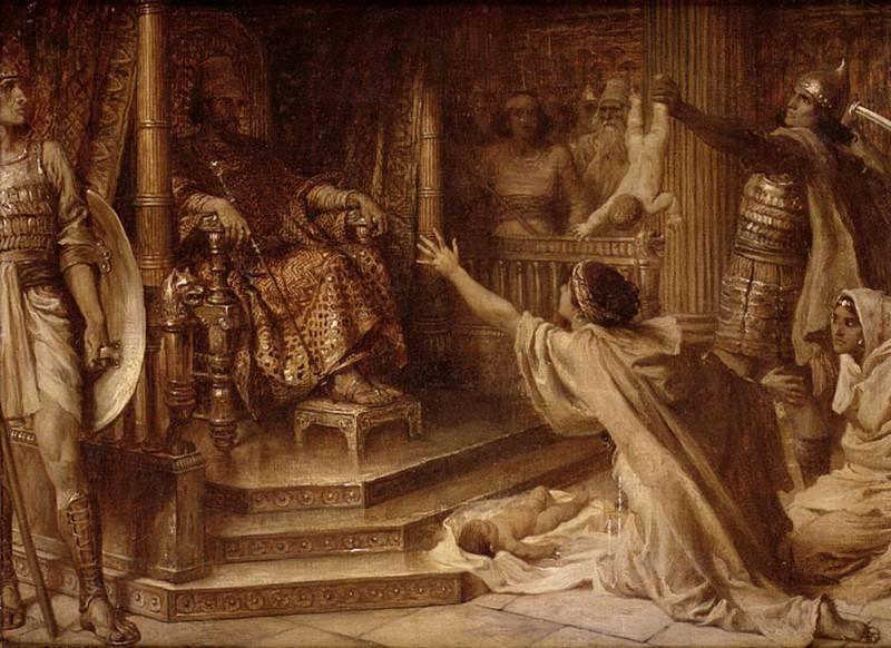 The judgment of Solomon. Sir Frank Bernard Dicksee