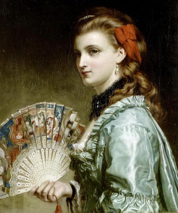 Портрет дамы с веером. Сэр Фрэнк Бернард Дикси