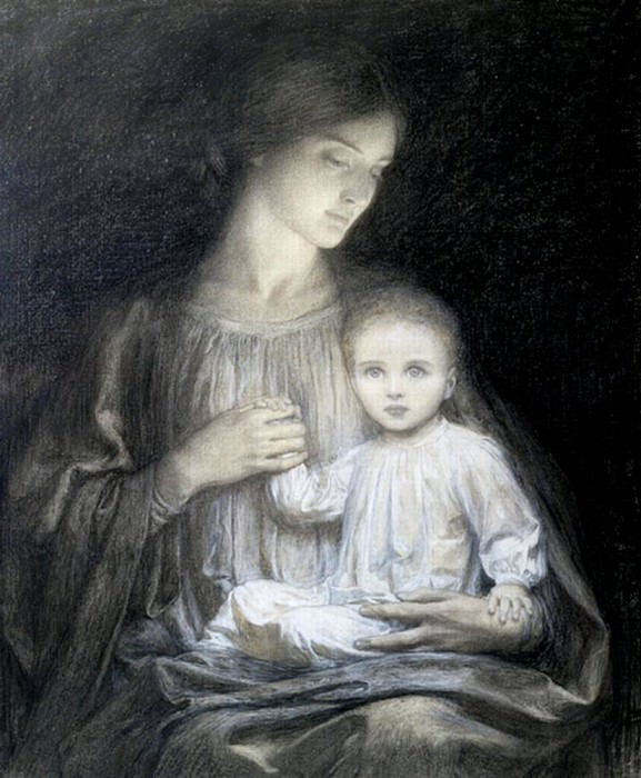 Mother and Child. Sir Frank Bernard Dicksee