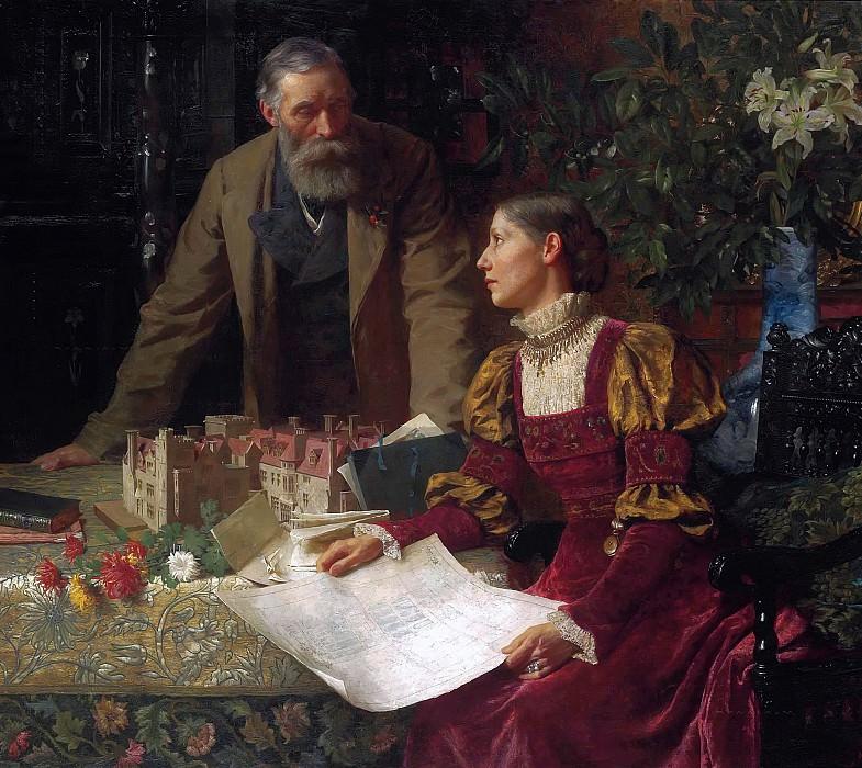 The House Builders. Sir Frank Bernard Dicksee