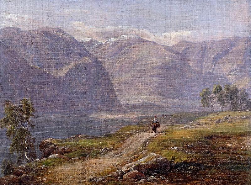 Mountain at Laerdalen in Norway. Johan Christian Clausen Dahl
