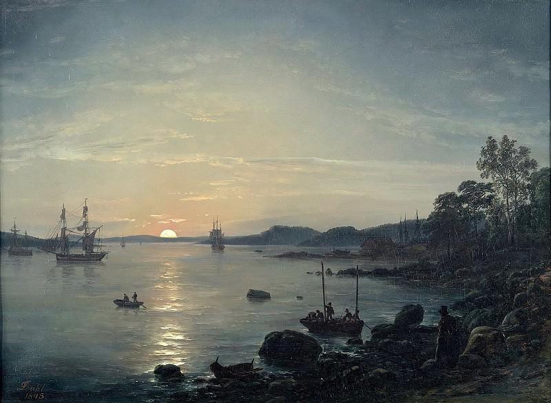Fjord bei Holmestrand. Johan Christian Clausen Dahl