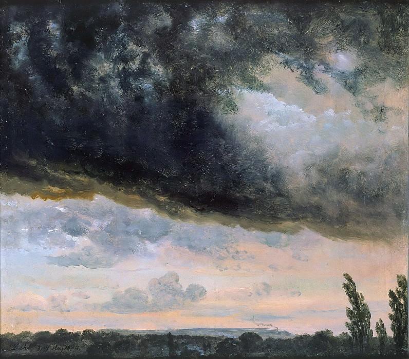 Облака, эскиз. Юхан Кристиан Клаусен Даль