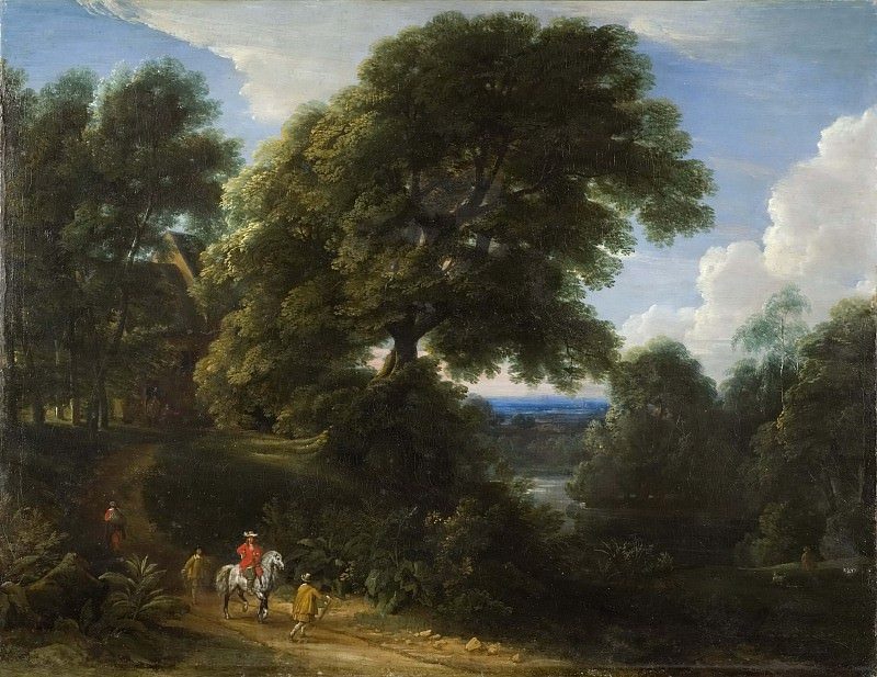 Landscape with a Rider in Red. Jacques d'Arthois