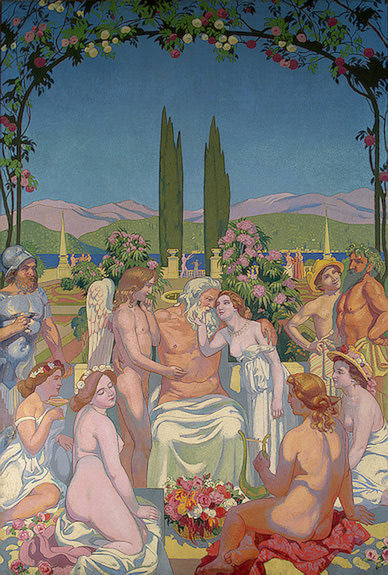Panel 5. In the Presence of the Gods Jupiter Bestows I. Maurice Denis