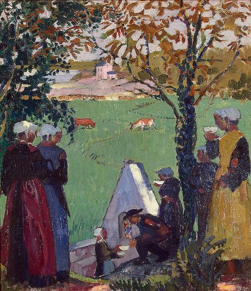 The Sacred Spring at Guidel, ca 1905, Eremitaget. Maurice Denis