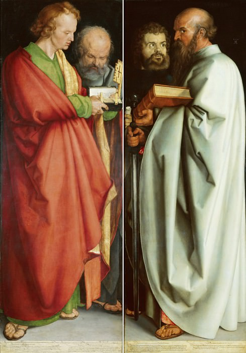 Four Apostles - John the Evangelist and Peter, Mark and Paul. Albrecht Dürer