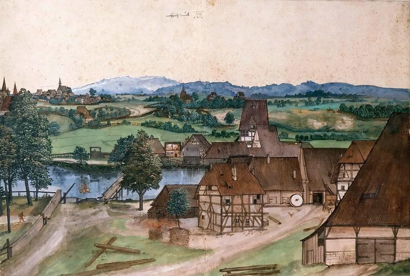 Wire-Drawing Mill. Albrecht Dürer