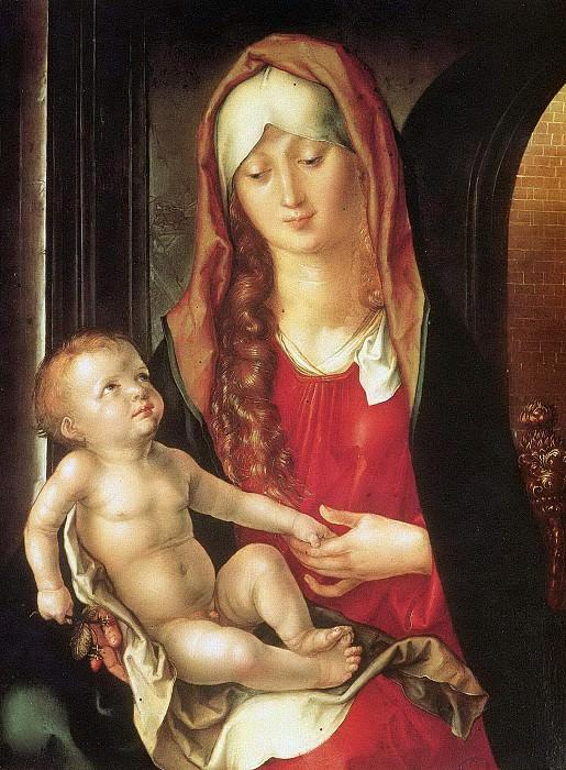 Virgin and Child before an Archway. Albrecht Dürer