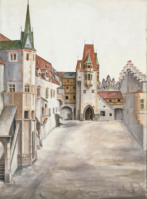 Courtyard of the Former Castle in Innsbruck without Clouds. Albrecht Dürer