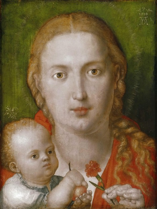 The Madonna of the Carnation. Albrecht Dürer