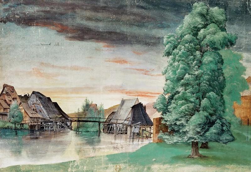 Willow Mill. Albrecht Dürer