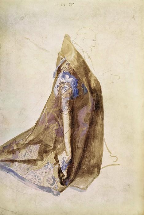 Эскиз облачения папы Юлия II для картины «Праздник венков из роз». Альбрехт Дюрер