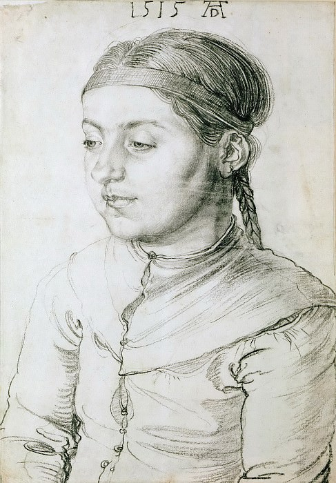 Portrait of a young Girl. Albrecht Dürer
