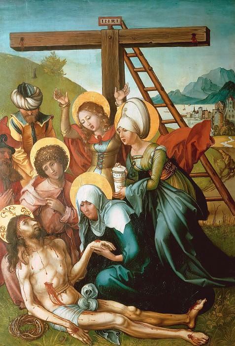 The Seven Sorrows of the Virgin - The Lamentation of Christ. Albrecht Dürer