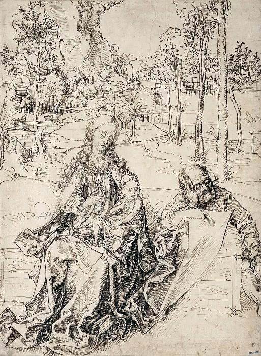 Rest on the Flight into Egypt. Albrecht Dürer