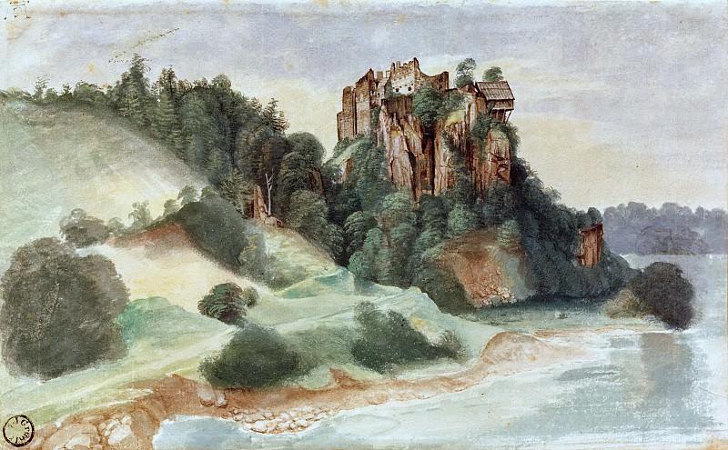 View of a castle overlooking a river. Albrecht Dürer