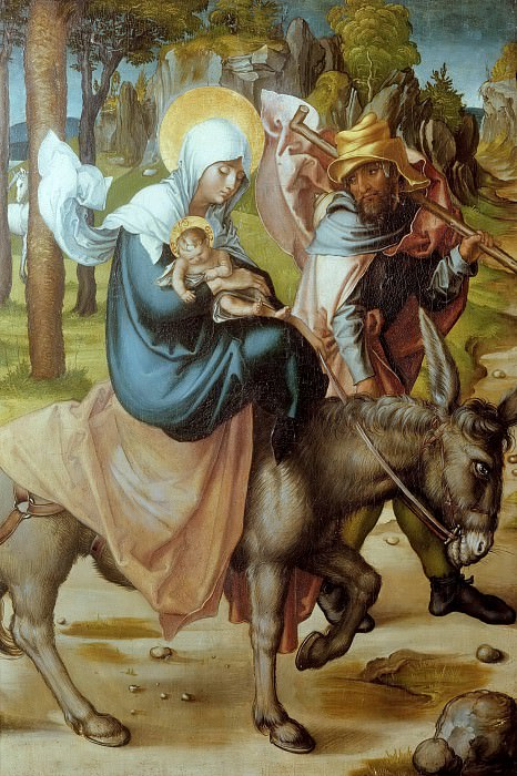 The Seven Sorrows of the Virgin - The Flight into Egypt. Albrecht Dürer