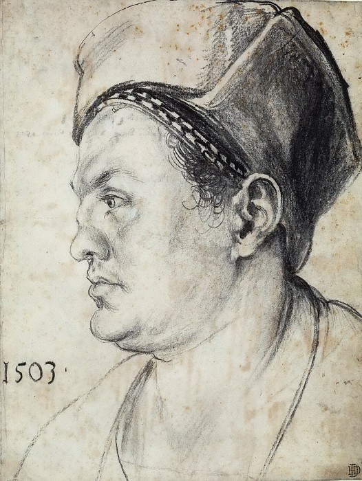 Portrait of Willibald Pirckheimer in profile. Albrecht Dürer