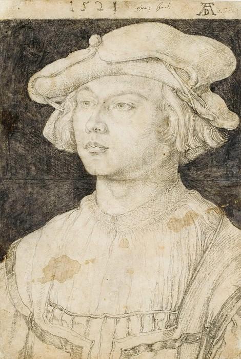 Portrait of Bernard van Orley. Albrecht Dürer
