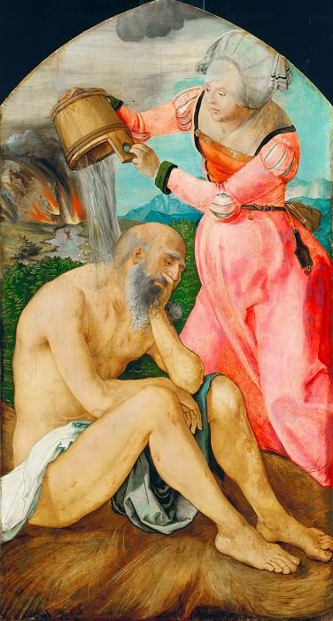The Jabach Altarpiece - Job and His Wife. Albrecht Dürer