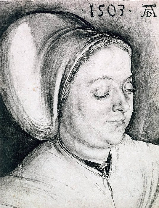 Portrait of a Woman, presumably the artists wife. Albrecht Dürer