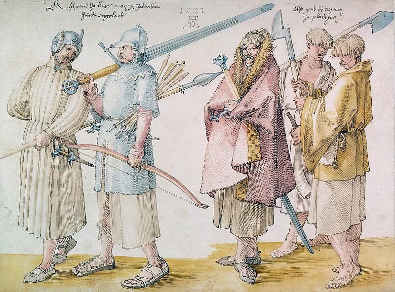 Irish Warriors and Peasants. Albrecht Dürer