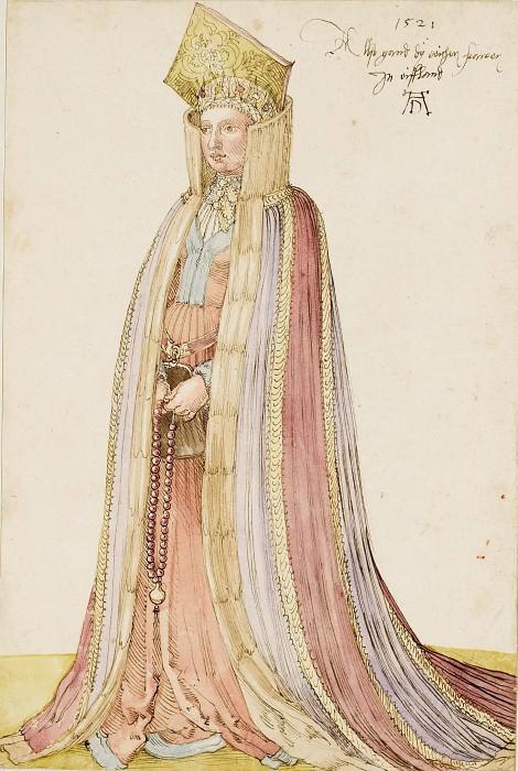 Costume of a woman from Livonia. Albrecht Dürer