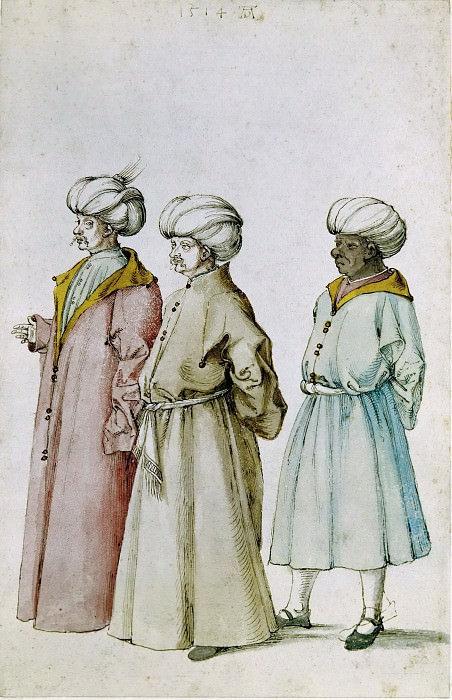 Study of Turkish Costumes. Albrecht Dürer