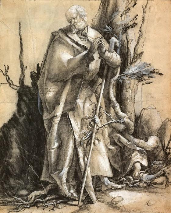 Bearded Saint in a Forest. Albrecht Dürer