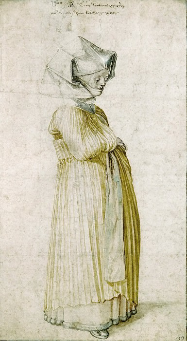 A Nuremberg Lady Dressed to go to Church. Albrecht Dürer