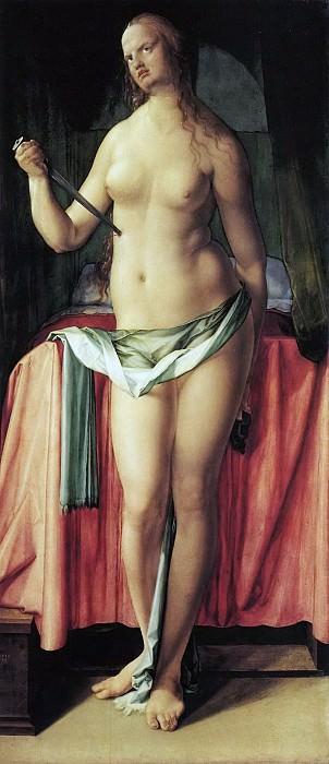 The Suicide of Lucretia. Albrecht Dürer