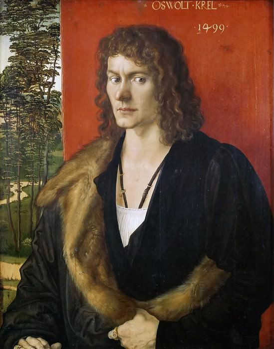 Portrait of Oswolt Krel (c. 1475 -1534). Albrecht Dürer