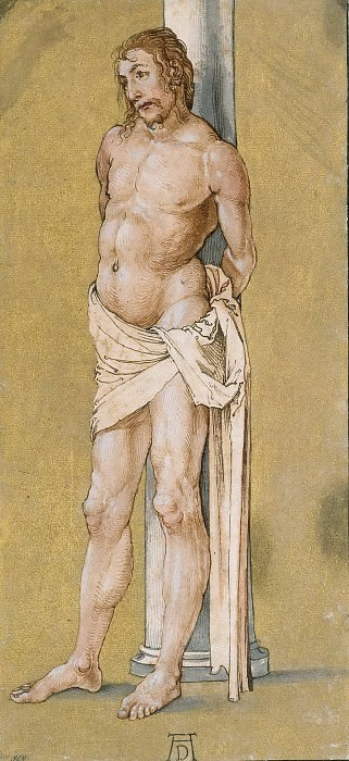 Christ Bound to the Column. Albrecht Dürer