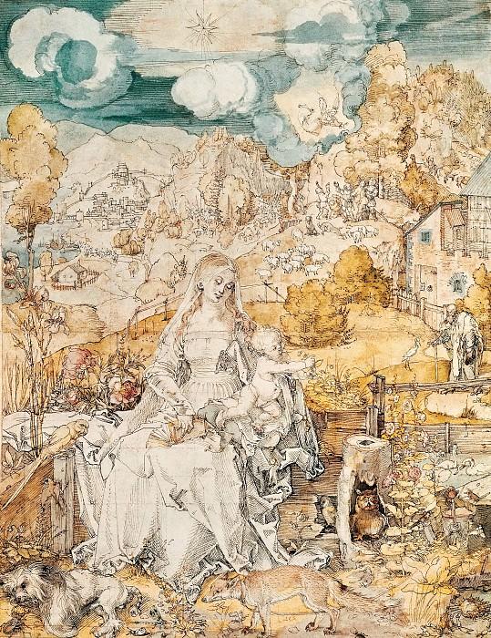 Madonna with a Multitude of Animals. Albrecht Dürer