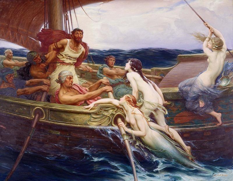 Ulysses And The Sirens. Herbert James Draper