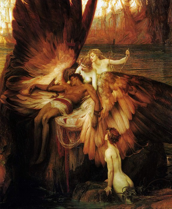 Mourning for Icarus. Herbert James Draper