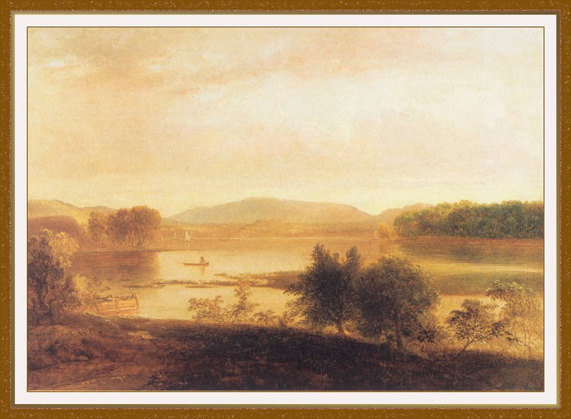 Лодка с гребцом на озере Пикскилл. Томас Доути