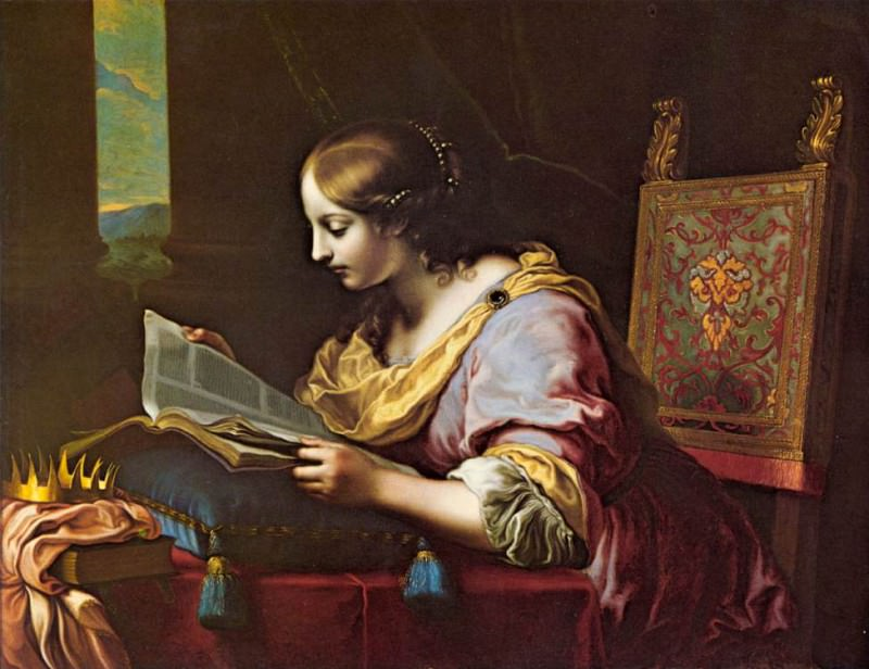St Catherine Reading a Book. Carlo Dolci